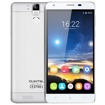 "Harga OUKITEL K6000 PRO 5.5"" FHD MTK6753 Android 6.0 4G Phone 3GB RAM 16MP CAM 6000mAh Battery Touch ID (White)"