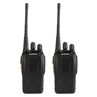 Harga 2x Baofeng BF-888S UHF 400-470 MHz 5W CTCSS Two-way Ham Radio 16CH - intl