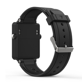 Harga Bluesky Silicone Rplacement Wristband Bracelet Watch Strap Band For Garmin Vivoactive Acetate Sports Watch, Black