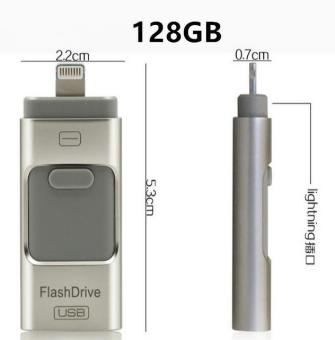 Harga Pen Drive for Andorid/apple Iphone 6s USB Flash Drive 128gb USB Stick Andorid 4.5+ OTG Pendrive U Disk 3 In 1 Memory Stick USB 2.0 - intl