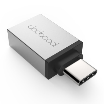 Harga dodocool USB-C to USB-A Adapter Convert USB 3.1 Type-C to USB-A Connector for MacBook / ChromeBook Pixel / Nexus 5X / Nexus 6P / OnePlus Two / Nokia N1 / Type C Supported Device Silver - intl