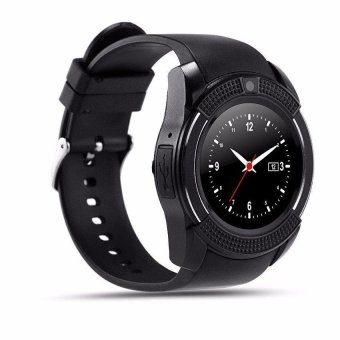 Harga V8 Smart Watch Clock With Sim TF Card Slot Bluetooth for Android and iOS - intl