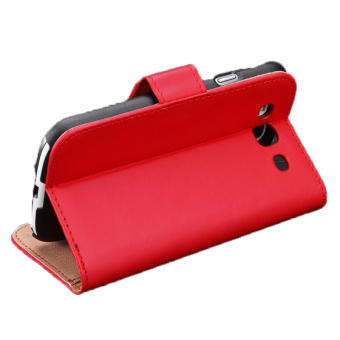 Harga Sunweb Wallet Card Holder Men Women Red Soft Synthetic Leather Flip Case Cover For Samsung Galaxy S3 S4 S5 Note3