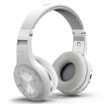 Harga Bluedio Hurricane H+ Wireless Bluetooth 4.1 Stereo Headphone White