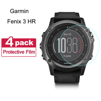 Fenix 3 HR Screen Protector (4-Pack) AWINNER Premium Film Nano Soft Explosion-proof Screen Protector Full Screen Coverage for Garmin Fenix 3 , Garmin Fenix 3 HR And Garmin Quatix 3 GPS Watch