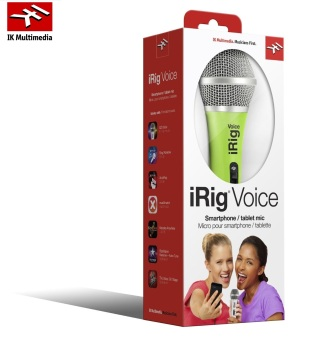 IK Multimedia iRig Voice Wired Microphone iOS Android Green