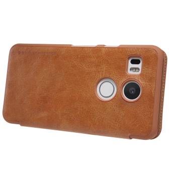 Harga NILLKIN Qin Series Flip Leather Shell for LG Nexus 5X with Card Slot (Brown)