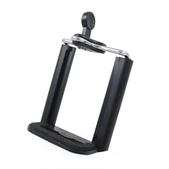 MENGS® Universal 1/4 Screw Smartphone Tripod Mount Holder Bracket Stand For IPhone Samsung HTC Huawei Smart Phone Mobile - Black