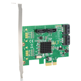 Harga IOCREST Marvell 88SE9215 Chipset SATA III (6Gbps) 4-Port PCI-Express Controller Card