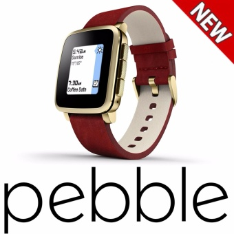 Harga Pebble Time Steel Smartwatch for Apple/Android Devices(Gold) - intl