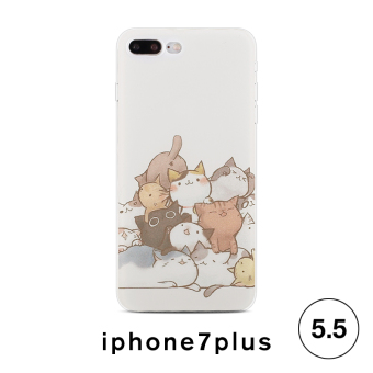 Harga 7plus iPhone7 hidog apple phone shell korea cartoon cat soft silicone protective sleeve drop new female