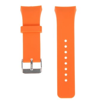 Silicone Watch Band Strap For Samsung Galaxy Gear S2 SM-R720(Orange) (EXPORT)