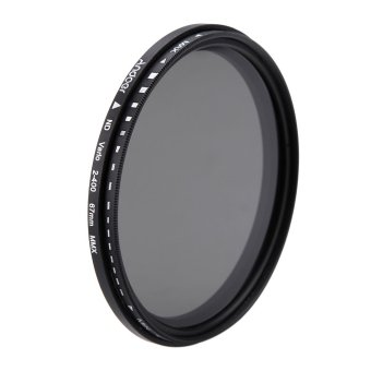 Harga 67mm ND Fader Neutral Density Adjustable ND2 to ND400 Variable Filter for Canon Nikon DSLR Camera (EXPORT)