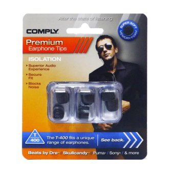 Harga Comply Foam Isolation T-400 Small Earphone Tips [3 Pairs]