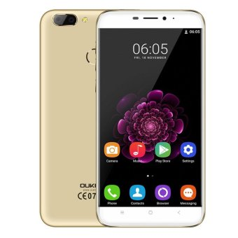 "Harga OUKITEL U20 PLUS 5.5"" IPS Android 6.0 4G Phone w/ 16GB ROM - Gold - intl"