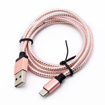 Harga Yika 3M Micro USB A to USB 2.0 B Braided Fast Data Sync Charging Cable For Android (Pink)