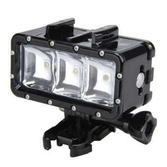 Harga Lightdow 30m Waterproof Diving Led Video Light For Gopro Hero Sjcam Action Camera - intl