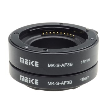 Harga Meike S-AF3-B Extension Tube for Sony E-Mount NEX-7 NEX-6 NEX-5R NEX-3N NEX-F3 NEX-5N NEX-5C NEX-C3(Export)