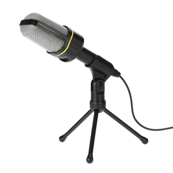 Harga Microphone Podcast Studio Microphone for Laptop / PC - Black - intl