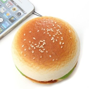 Harga 9.5Cm Jumbo Hamburger Kawaii Ham Squishy Bread Keychain Bag Phonecharm Strap - intl