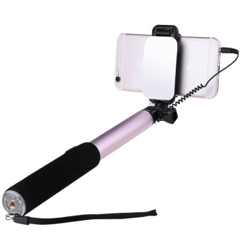Harga Rock Portable Selfie Stick Monopod with Rearview Mirror (Tyrant Gold)