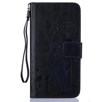 Harga Premium Magnetic Closure PU Leather Emboss Dandelion Wallet case Pattern with Card Slots Wrist Strap Flip Stand Cover for Xiaomi Mi 5 Mi5 - intl