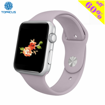 Harga top4cus Silicone Replacement Sport Strap Watch Band for Apple Watch iwatch Series 1 and 2 - 38mm - Small/Medium - Lavender