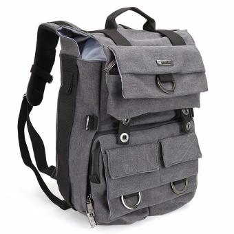 Harga Camera Backpack, Evecase Canvas DSLR Travel Camera Backpack w/Laptop Compartment & Rain Cover -Gray - intl