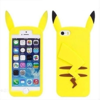 Harga (For Samsung Galaxy S7 Edge) For iPhone For Samsung Cartoon Cute 3D Pocket Monsters Pikachu Pokemon Funny Silicone Cover Case - intl