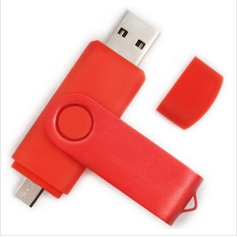 Harga 64GB USB Flash Drive Smartphone USB Flash Drive OTG Pendrive Smart Mobile Disk(Red) - intl