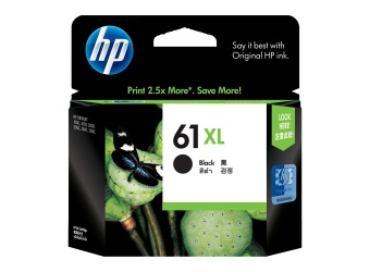 Harga Original HP 61XL Black for HP DJ 1000/2000/3000 Series Ink Cartridge, 480 Pages