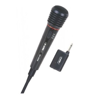 2 in 1 Wired Wireless Handheld Microphone Mic Receiver System Undirectional SN-308M Metal Body