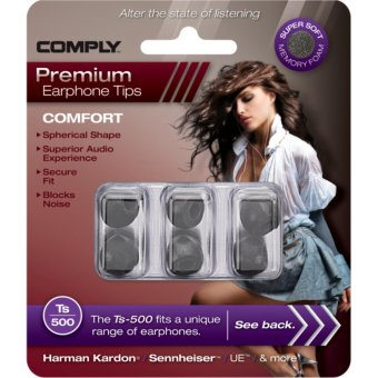 Harga Comply Foam Comfort Ts-500 Small Earphone Tips [3 Pairs]