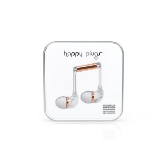 Harga Happy Plugs In-Ear White Marble