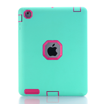 Harga Shockproof Heavy Duty Rubber Hard Case Cover for Apple iPad 1 2 3 MINI AIR (Blue) - intl