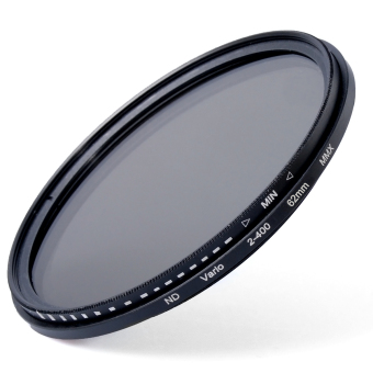 Harga 62mm Slim Fader Variable ND Filter Neutral Density ND2 ND8 ND16 to ND400 LF305