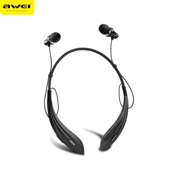 Harga Original Awei A810BL Wireless Bluetooth 4.0 headphone in ear sports running Sweatproof Handsfree stereo music Noise Canceling fone de ouvido with Microphone for iphone IOS Android Smart Phones - intl
