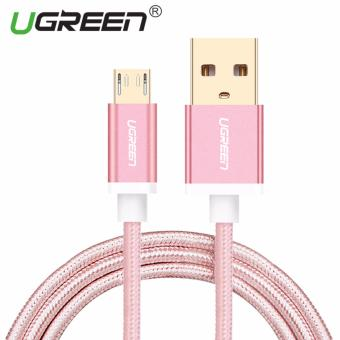 Harga UGREEN Nylon Braided Micro USB Cable Sync Data Charging Cable for Android,Samsung,Xiaomi,HTC,Sony - 2m,Rose Gold - intl