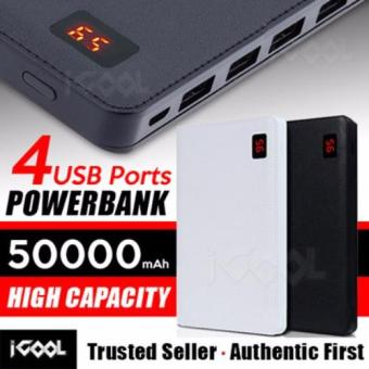 Harga Icool 50000MAH Quad-Port with LCD Display power bank Compatiable with Table/Iphone/Samsung/Android mobile etc and FREE USB LED LAMP