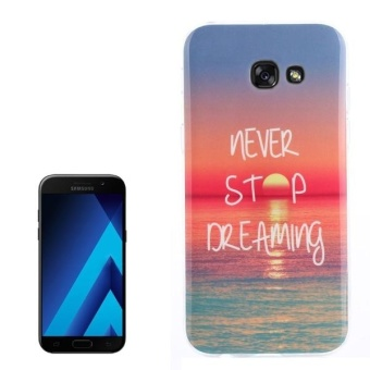 Harga For Samsung Galaxy A7 (2017) / A720 Sunrise At Sea Pattern TPU Back Case - intl