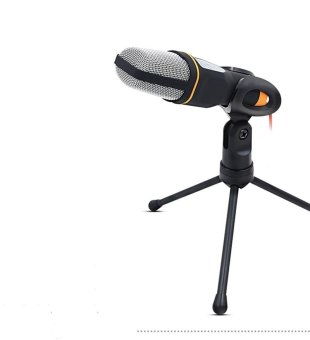 Harga MOON STORE SF-666 network microphone professional notebook independent capacitor microphone (black) - intl
