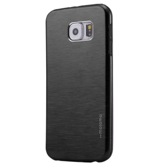 Harga Motomo Brushed Texture Metal + TPU Protective Case for Samsung Galaxy S7 / G930(Black) - intl
