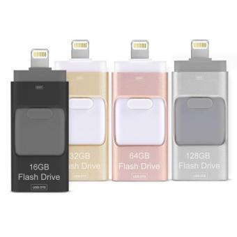 Harga 128GB 3 in 1 For Iphone OTG USB 3.0 Pen Drive Usb Flash Drive Pendrive Usb Stick - intl