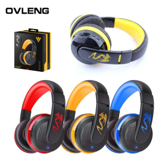 Harga OVLENG MX666 Wireless Bluetooth Headphones Earphones With Microphone Gaming Stereo Hifi Headset Music For Smart Phone (Blue)