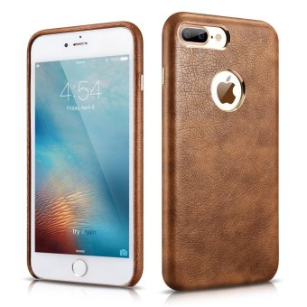 Harga Xoomz Premium Artificial Leather Back Cover Leather Case for Apple iPhone 7 Plus, Brown