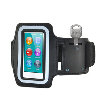Harga Amango Sport Running Gym Soft Armband Cover Case for iPod Nano 7th Generation Black