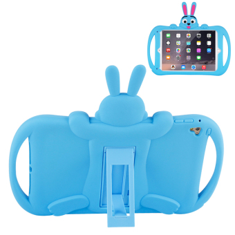 Harga BUILDPHONE Silica Gel Cartoon Rabbit Pad Soft Case for iPad Pro 9.7inch (Blue) - intl