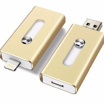 Harga Pen drive 128GB Metal USB OTG iFlash Drive HD USB Flash Drives for iPhone for iPad for iPod and Android Phone - intl