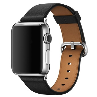 Venter® for Apple Watch Leather Band,42mm Sumin® Luxury Genuine Leather Classic Buckle watch Band strap Bracelet Replacement Wrist Band for Apple Watch 42mm - intl