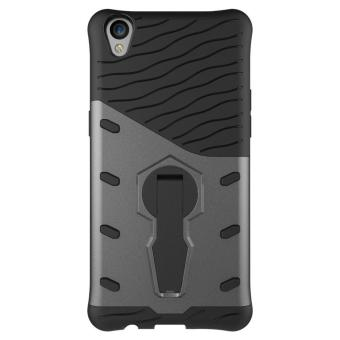 Harga Heavy Duty Shockproof Dual Layer Hybrid Armor Defender Full Body Protective Cover with 360 Degree Rotating Kickstand Case for Oppo F1s - intl